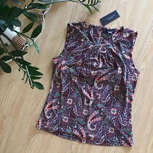 Tommy Hilfiger paisley print sleeveless blouse